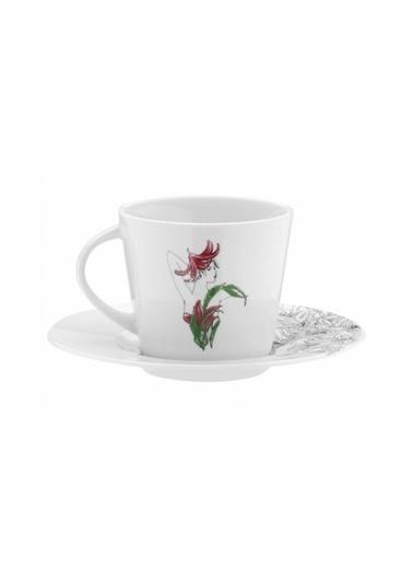 Kütahya Porselen Kadınlarım Serisi 9441 Desen Çay Fincan Takımı Renkli